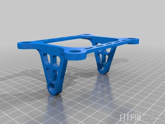 DJI Phantom 2的松下GM1照相机固定槽 3D模型  图5