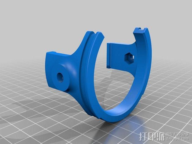 DJI Phantom 2的松下GM1照相机固定槽 3D模型  图6