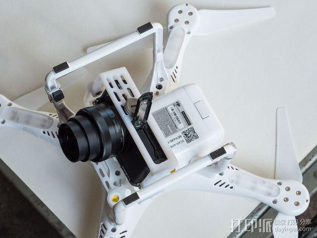 DJI Phantom 2的松下GM1照相机固定槽 3D模型  图8