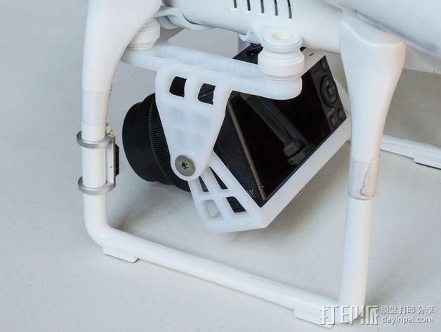 DJI Phantom 2的松下GM1照相机固定槽 3D模型  图9