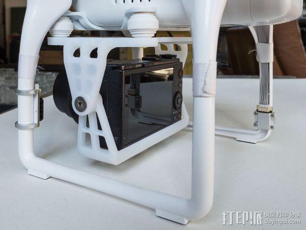 DJI Phantom 2的松下GM1照相机固定槽 3D模型  图10
