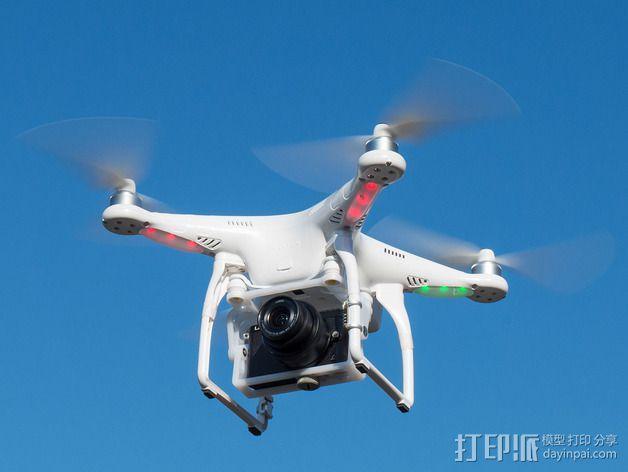DJI Phantom 2的松下GM1照相机固定槽 3D模型  图15