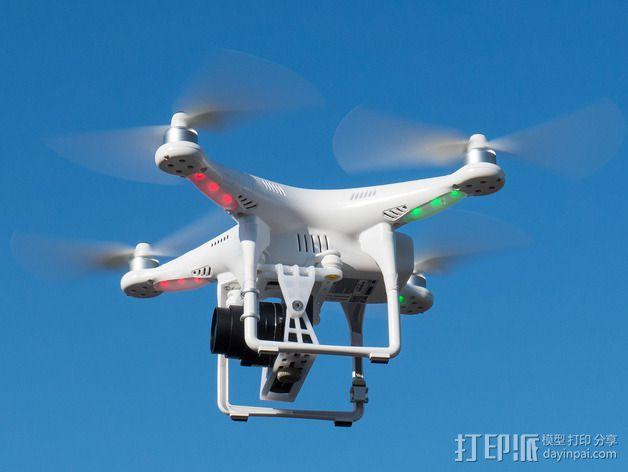 DJI Phantom 2的松下GM1照相机固定槽 3D模型  图16