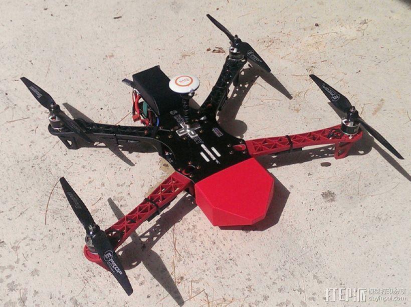 TBS Discovery四轴飞行器可拆卸鼻锥 3D模型  图1