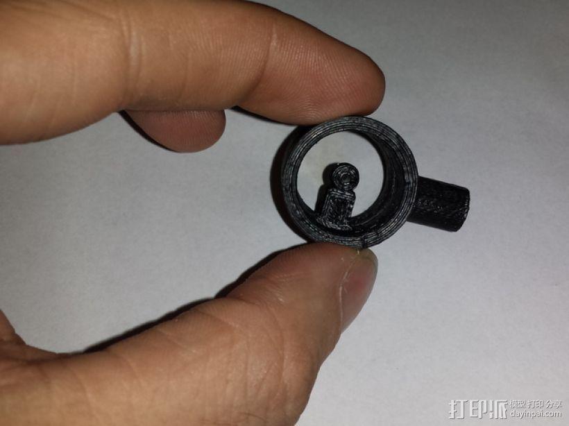 反曲弓瞄准器 3D模型  图3
