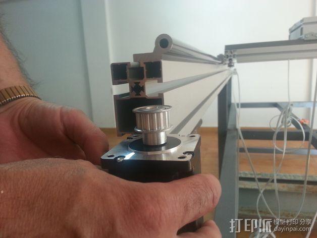 马达固定槽 3D模型  图1