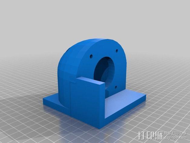 马达固定槽 3D模型  图3