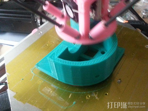 马达固定槽 3D模型  图7