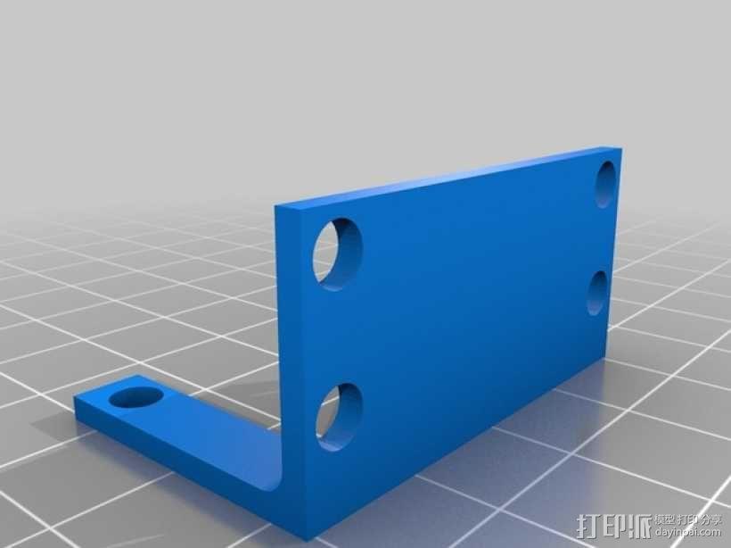 步进电机 安装支架 3D模型  图2