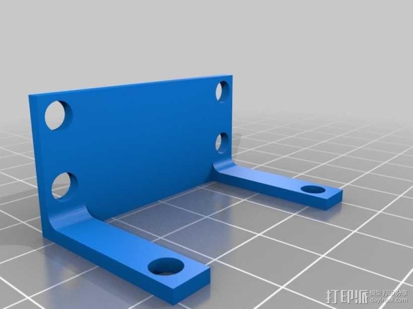 步进电机 安装支架 3D模型  图3