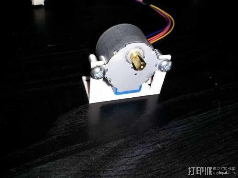 步进电机 安装支架 3D模型  图4