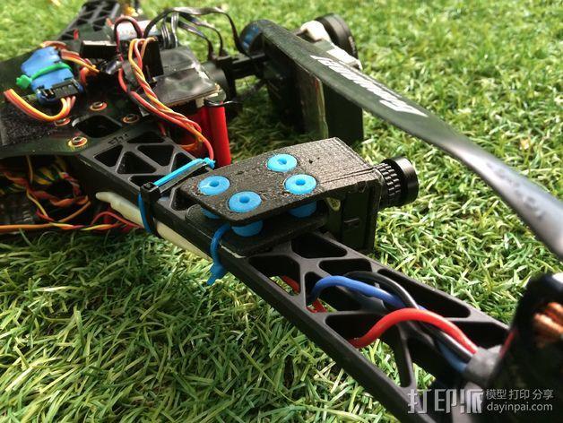 Sony Super HAD 600TVL FPV 照相机的独立臂固定槽 3D模型  图3
