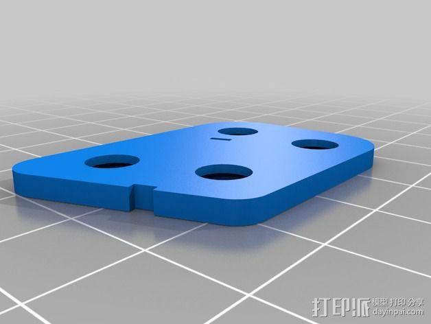 Sony Super HAD 600TVL FPV 照相机的独立臂固定槽 3D模型  图5
