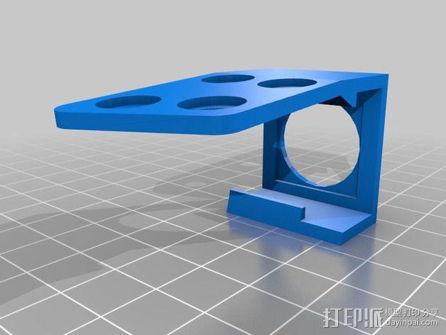 Sony Super HAD 600TVL FPV 照相机的独立臂固定槽 3D模型  图4