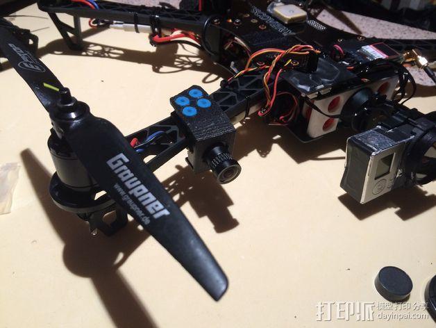 Sony Super HAD 600TVL FPV 照相机的独立臂固定槽 3D模型  图7