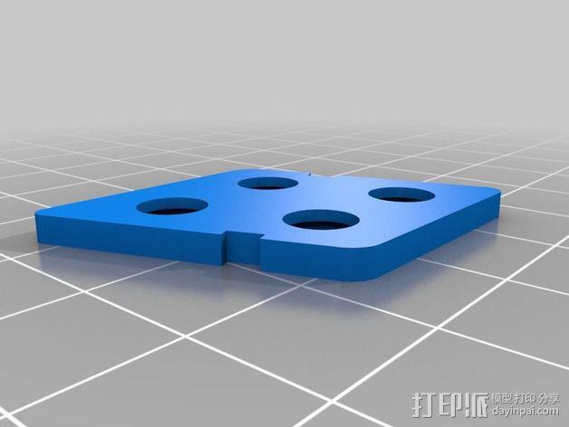 Sony Super HAD 600TVL FPV 照相机的独立臂固定槽 3D模型  图10