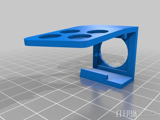 Sony Super HAD 600TVL FPV 照相机的独立臂固定槽 3D模型  图9