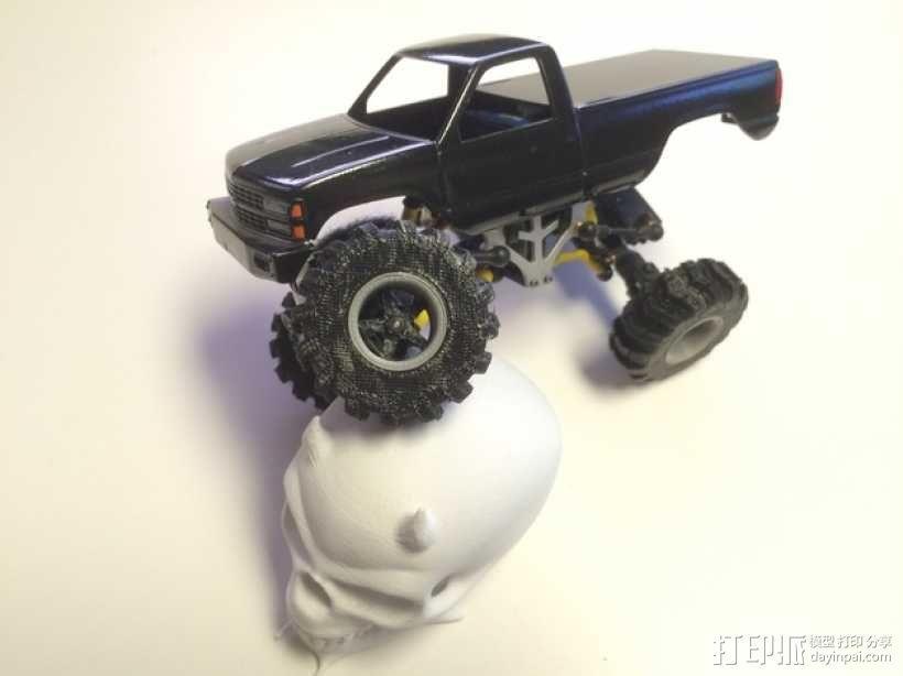1:24攀岩车轮胎 3D模型  图1