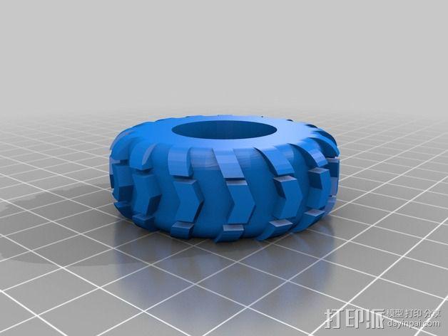 1:24攀岩车轮胎 3D模型  图4
