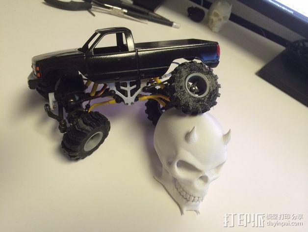 1:24攀岩车轮胎 3D模型  图5