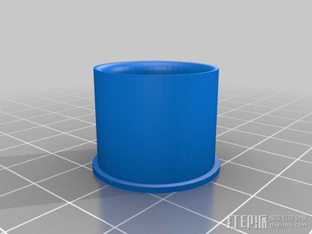 1:24攀岩车轮胎 3D模型  图3