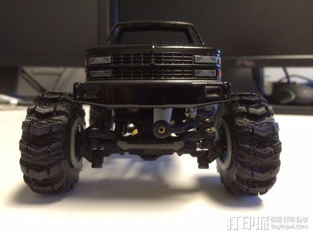 1:24攀岩车轮胎 3D模型  图6