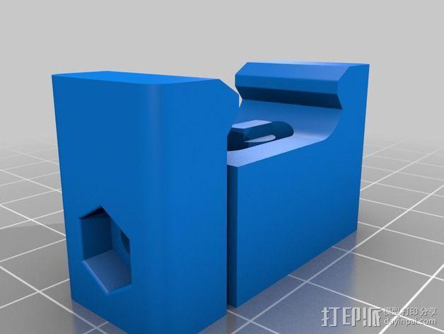 皮卡汀尼固定槽 3D模型  图2
