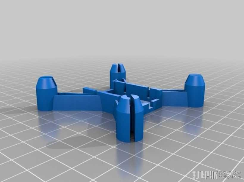 更小的hubsan x4机身 3D模型  图2