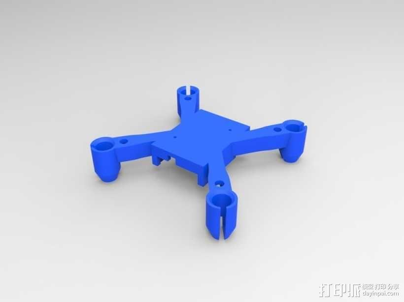 更小的hubsan x4机身 3D模型  图3