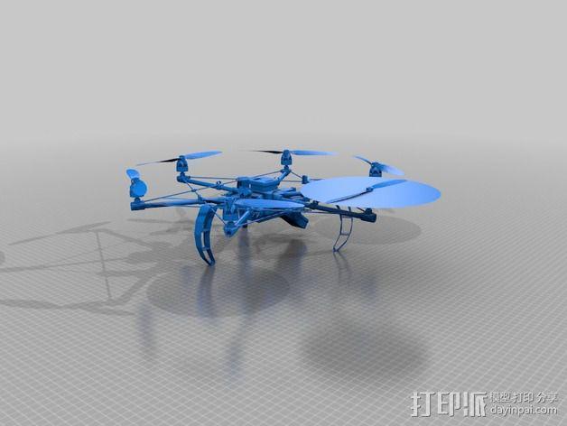迷你六轴飞行器 3D模型  图7