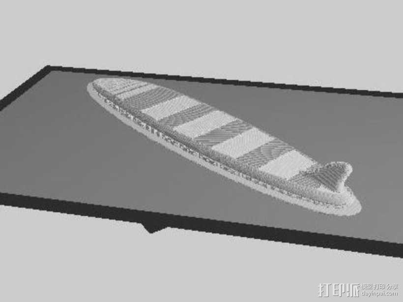 1:10制作冲浪板 3D模型  图5