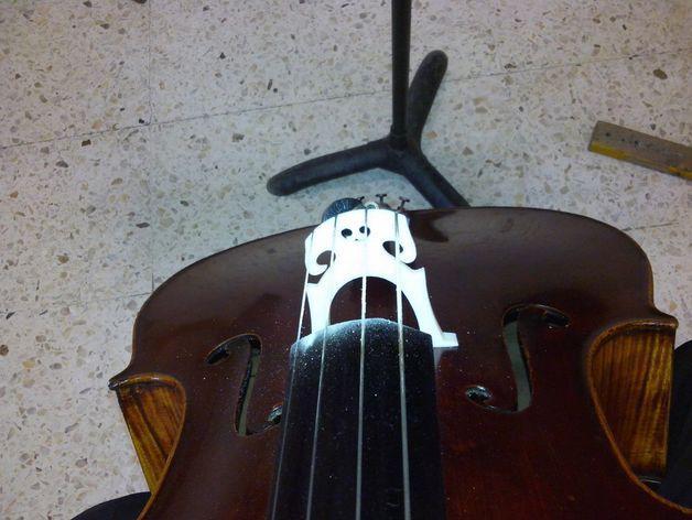 大提琴琴桥 3D模型  图5