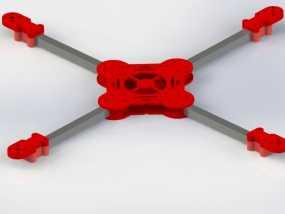 400mm碳纤X 四轴飞行器 3D模型