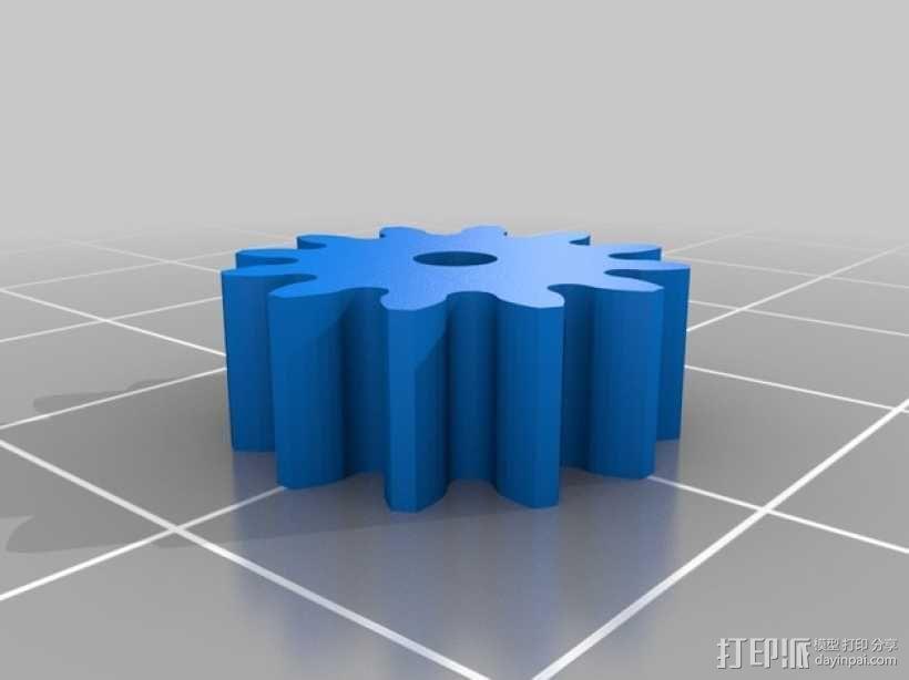 迷你挖掘机  3D模型  图4