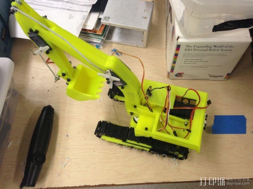 迷你挖掘机  3D模型  图9