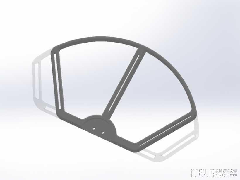 DJI Phantom 2 螺旋保护架 3D模型  图4