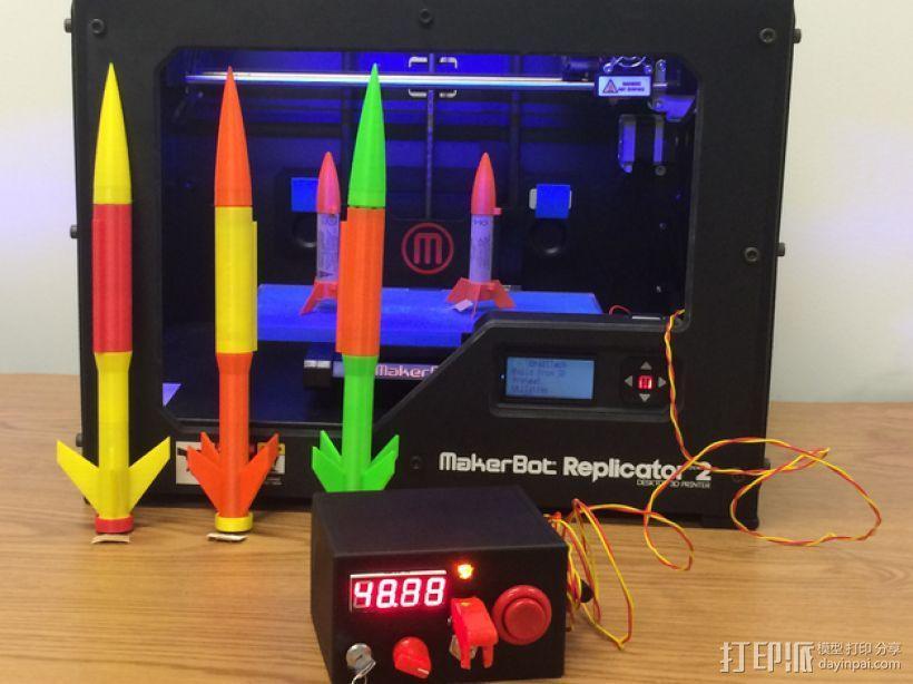 火箭发射器 3D模型  图1