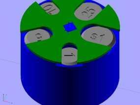 可定制硬币存储盒 3D模型