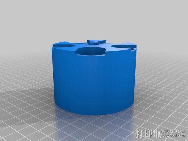 可定制硬币存储盒 3D模型  图2