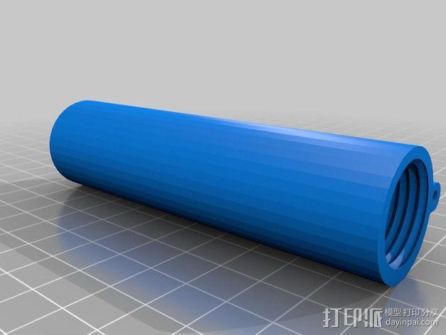 带有前掠翼的打印火箭 3D模型  图2