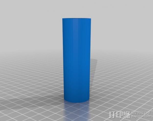 带有前掠翼的打印火箭 3D模型  图5