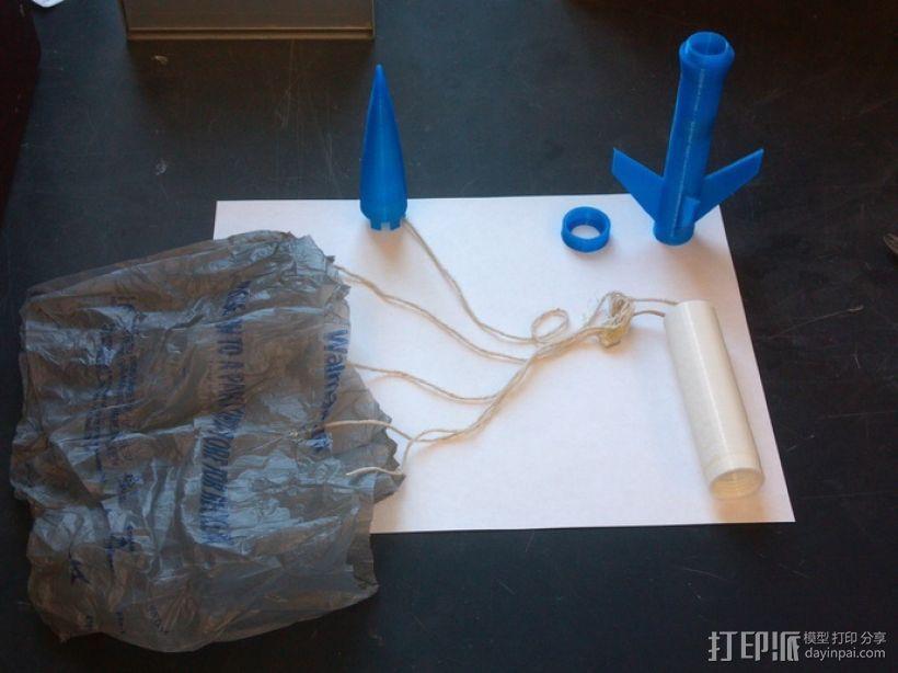 带有前掠翼的打印火箭 3D模型  图11