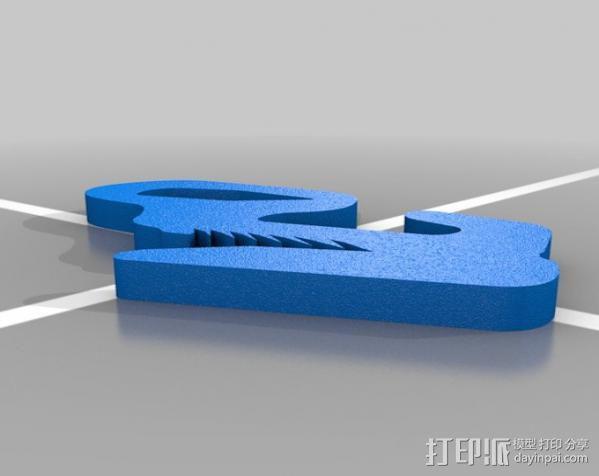 野营紧绳器 3D模型  图5