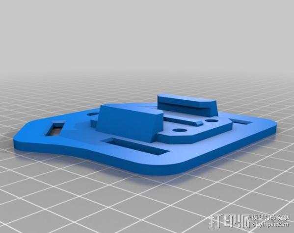 Gopro 骨架槽 3D模型  图2