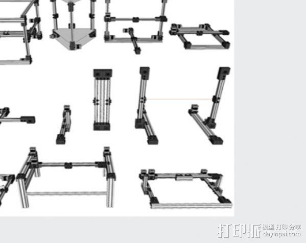 V型槽线性促发器 3D模型  图3