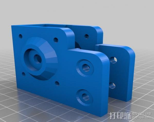 V型槽线性促发器 3D模型  图13