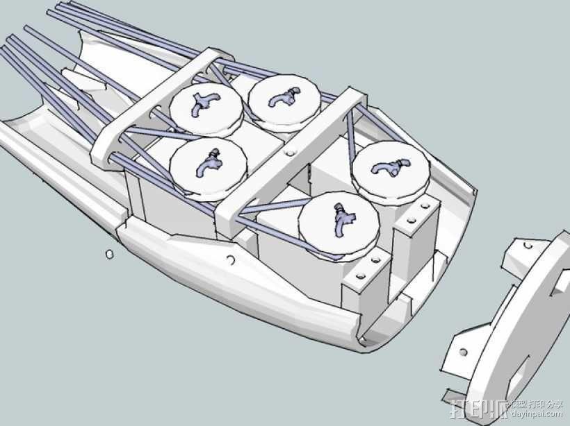 InMoov简易伺服床 3D模型  图1