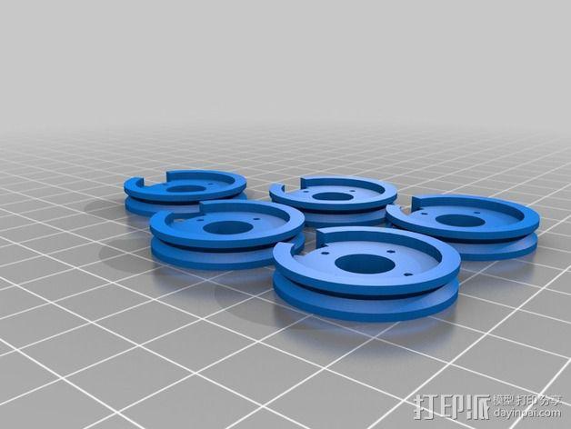InMoov简易伺服床 3D模型  图4
