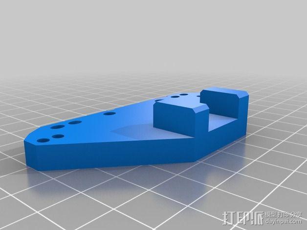 InMoov简易伺服床 3D模型  图3