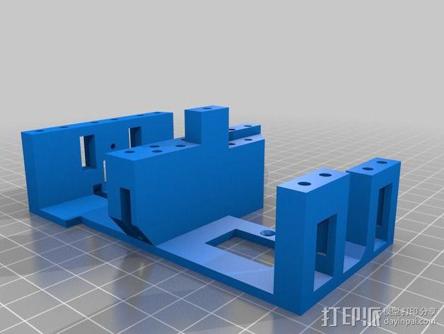 InMoov简易伺服床 3D模型  图7